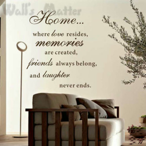 ... Family Quotes wall stickers home decoration VINYL Wall Decor Stickers