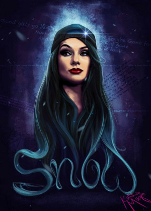 Fan art of Snow Tha Product. Digital painting by Kate Magill.