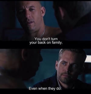 ... back, vin diesel, dominic toretto, brian o'conner, fats and furious