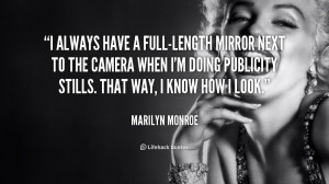Marilyn Monroe Mirror Quote Org/quote/marilyn-monroe/i