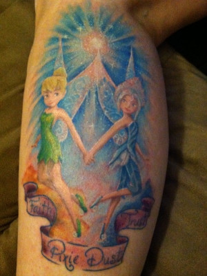Periwinkle and Tinkerbell tattoo done by Sonya Grenell of Lighttouch ...