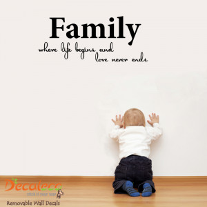 Home » Products » Family, where Life Begins Wall Quote