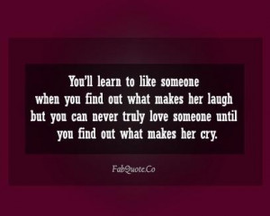 What makes her cry quote