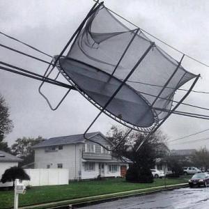 trampoline-on-power-line-Hurricane-Sandy