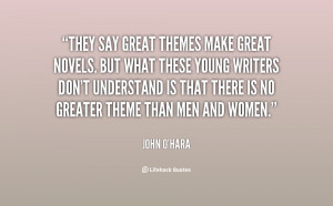 They say great themes make great novels. but what these young writers ...