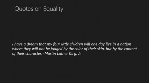 Screenshots Quotes on Equality