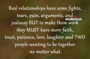... love, laughter and TWO people wanting to be together no matter what