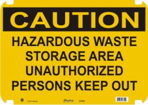 ... Signs » Caution Signs » Caution Sign Hazardous Waste Storage Area