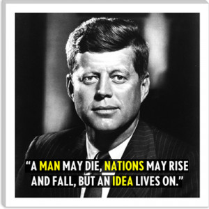 John F. Kennedy Quote Canvas Art Print