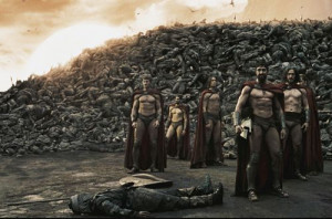 King Leonidas and the Spartans before the famous