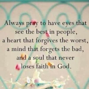 Faith and forgiveness