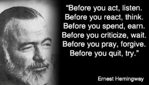 Quotes by Ernest Hemingway