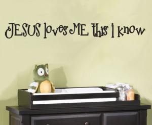 Christian Wall Decal Quote Jesus love me Home Decor Adesivo De Parede ...