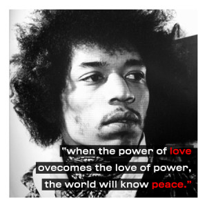 Jimi Hendrix Quote Canvas Art Print
