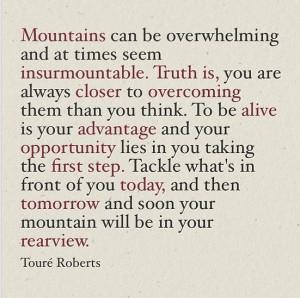 Photos / Touré Roberts' Instagram features motivational quotes