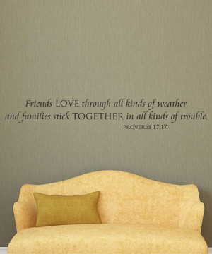 Families Stick Together' Wall Quote
