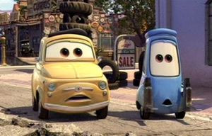 Luigi is a character in Cars and Cars 2 . Luigi's model is 1959 Fiat ...