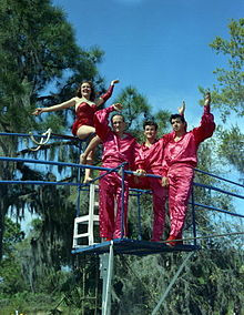 Carla Wallenda, Karl Wallenda, Raymond Chitty, and Richard Guzman ...