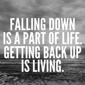 Get back up. #NoQuitMonday #potsc #tenacity