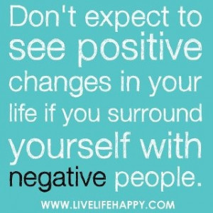 positive changes among negative society.
