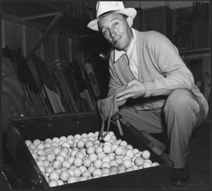 Let's go hit some golf balls, you orange-haired freak.
