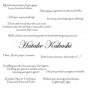 Quotes of Kakashi by Dubtiger