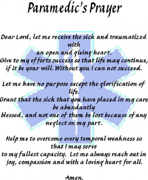 Paramedics Prayer#Repin By:Pinterest++ for iPad#