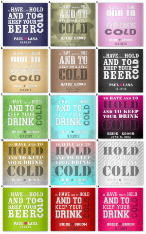 ... Your Drink Cold!! ... Say Thank You with your Wedding Stubby Holders