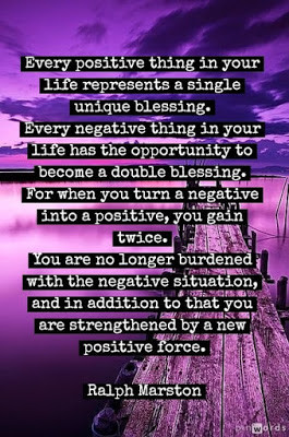 Every positive thing in your life represents a single unique blessing.