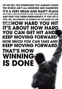 Rocky Inspired Motivational Inspirational Quote Poster A3