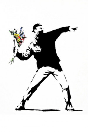 Rage the Flower Thrower by Banksy