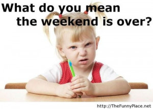Weekend is over - Funny Pictures, Awesome Pictures, Funny Images and ...
