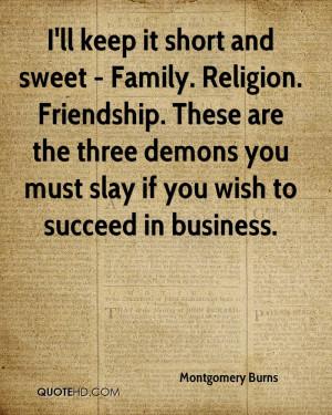 Montgomery Burns Friendship Quotes