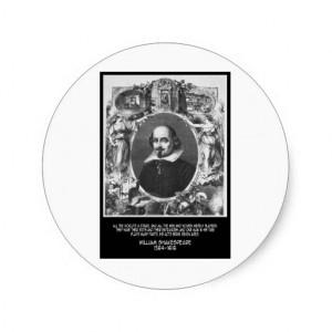 William Shakespeare Quote Classic Round Sticker