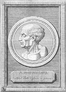 Marcus Porcius Cato der Ältere in einem nachantiken Stich