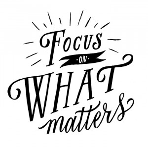 Last week was very revealing to me about how much I am focusing on ...
