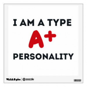 Type A Personality Room Sticker