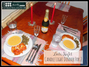 Today's date night idea: Fix a Fancy Dinner For 2 with Candles!
