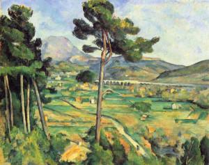 La Montagne Sainte-Victoire vue de Bellevue (1882-1885).