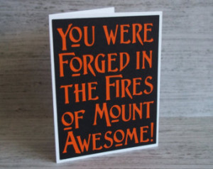 ... - Lord of the Rings / Hobbit Inspired Thank You Card- Blank inside