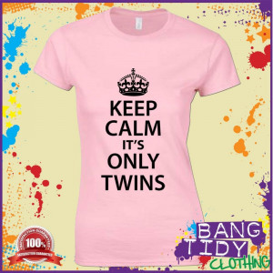 funny-pregnant-womens-t-shirt-keep-calm-its-only-twins-maternity ...