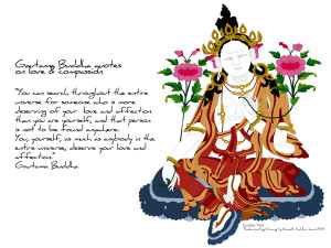 BUDDHA QUOTES ON LOVE & COMPASSION. FREE DOWNLOAD OF THE PAINTING