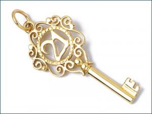 9ct Gold 18th and 21st Birthday Pendants » Medium 21 Key