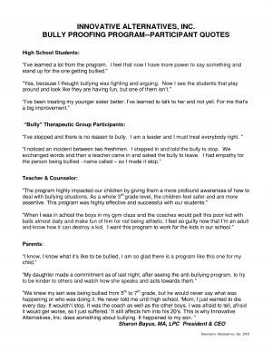 ... school student quotes: Document Sample High school student quotes