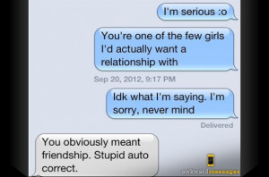 LOL! Getting Friend Zoned While Texting