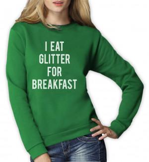 ... -For-Breakfast-Women-Sweatshirt-Funny-MEME-Hipster-Style-Unicorn