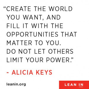 Alicia Keys Leans In #quotes
