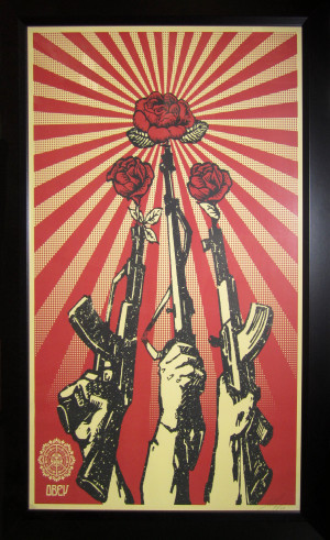 Shepard Fairey - Guns and Roses - 2006
