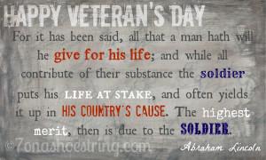 Happy Veteran's Day 2012
