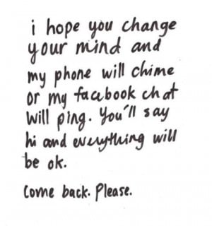 Want You Back Quotes Tumblr Gallery for i want you back